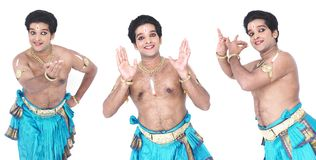 Male classical dancer from asia Royalty Free Stock Photos