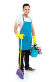 Male cleaning service Stock Image
