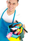 Male cleaning service Royalty Free Stock Photo