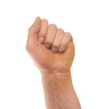 Male clenched fist Royalty Free Stock Images