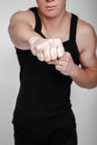 Male clenched fist Stock Photos
