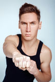 Male clenched fist Stock Image