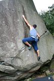 Male climber 1. Male Rock Climber, climbing outdoors royalty free stock images
