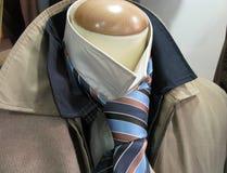 Male clothes on shop mannequin Stock Photos