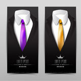Male clothing suit. Exclusive card Royalty Free Stock Image