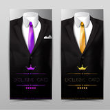 Male clothing suit. Exclusive card Royalty Free Stock Photography