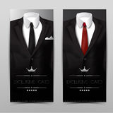 Male clothing suit. Exclusive card Royalty Free Stock Photos