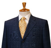 Male clothing suit on stand Royalty Free Stock Image