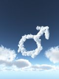 Male clouds Royalty Free Stock Photo