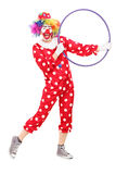 Male clown holding a hula hoop Stock Photo