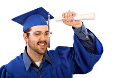 Male College Grad Stock Photo