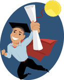 Male college graduate Stock Images
