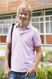 Male college student on campus.  Royalty Free Stock Image