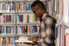 Male College Student In A Library Stock Photography