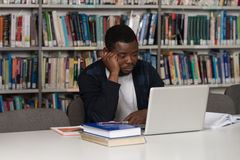 Male College Student Stressed About His Homework Royalty Free Stock Photos