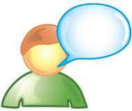 Male comment Icon stock photos