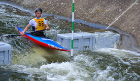 Male Competitor 66 Canoe Royalty Free Stock Photography