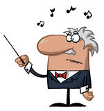 Male conductor waving a baton Royalty Free Stock Photo