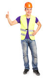 Male construction worker giving a thumb up Stock Image