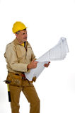 Male construction worker in a hardhat Stock Photos