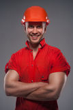 Male construction worker Stock Images