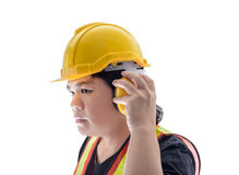 Male construction worker with Standard construction safety equip Stock Photos