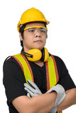 Male construction worker with Standard construction safety equip Royalty Free Stock Images