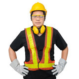 Male construction worker with Standard construction safety equip Royalty Free Stock Image