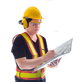 Male construction worker with Standard construction safety equip Stock Photography