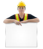 Male construction worker with Standard construction safety equip Royalty Free Stock Photo