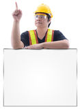 Male construction worker with Standard construction safety equip Stock Image