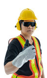 Male construction worker with Standard construction safety equip Royalty Free Stock Photos