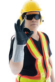 Male construction worker with Standard construction safety equip Royalty Free Stock Photography