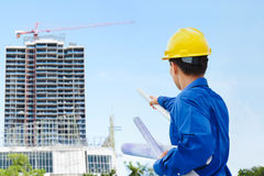 Male contractor and bulding project Stock Photos