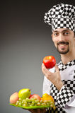 Male cook in the apron Royalty Free Stock Photography