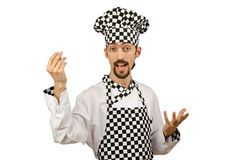 Male cook in the apron Stock Image