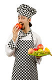 Male cook in the apron Stock Photos