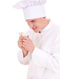 Male cook with money Stock Photos