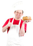Male cook in uniform and hat Royalty Free Stock Photography