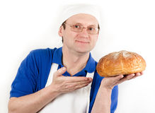 Male cook in uniform Royalty Free Stock Images