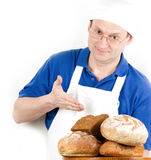 Male cook in uniform Royalty Free Stock Photo