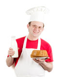 Male cook in uniform and hat Stock Photos