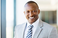 Male corporate worker. Handsome male african american corporate worker Royalty Free Stock Images