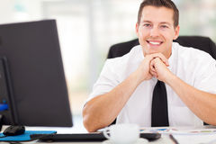 Male corporate worker. Handsome male corporate worker looking at the camera Stock Photos