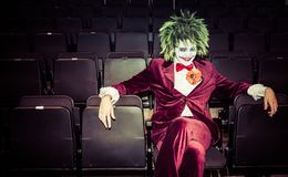 The Joker from Batman at a comic con event Stock Images