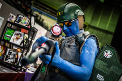 Male cosplayer at the Yorkshire Cosplay Convention stock image