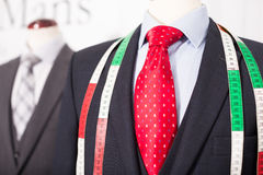 Male costume on a mannequin in men clothing store Royalty Free Stock Photography