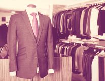 Male costume on a mannequin in men clothing store. Chic Male costume on a mannequin in men clothing store Stock Images