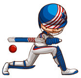 A male cricket player Royalty Free Stock Images