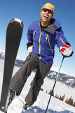 Male Cross Country Skier. On Ski Holiday In Mountains Stock Image